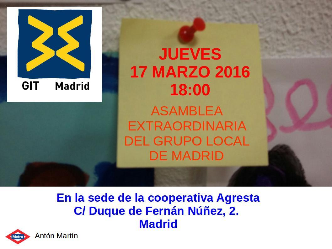 Git madrid asamblea extraordinario del grupo local de madrid - Local en madrid ...